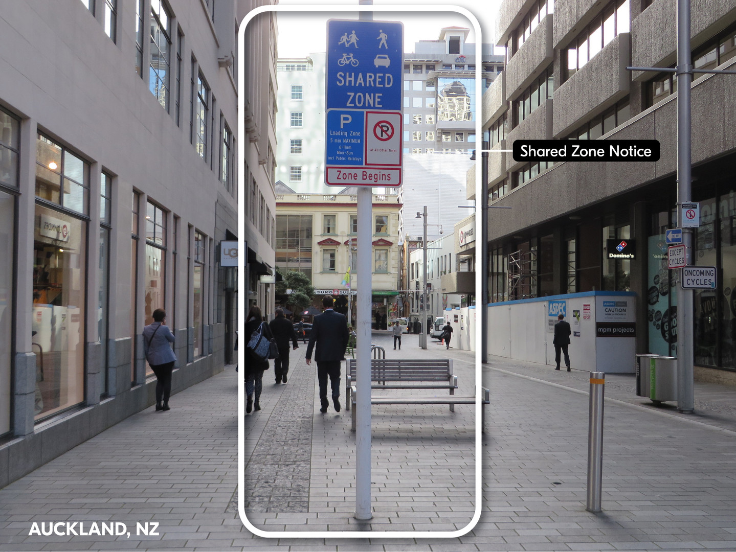 Shared Zone Sign | Auckland, NZ
