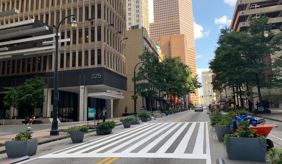 New mid-block crossing at Peachtree Center station
