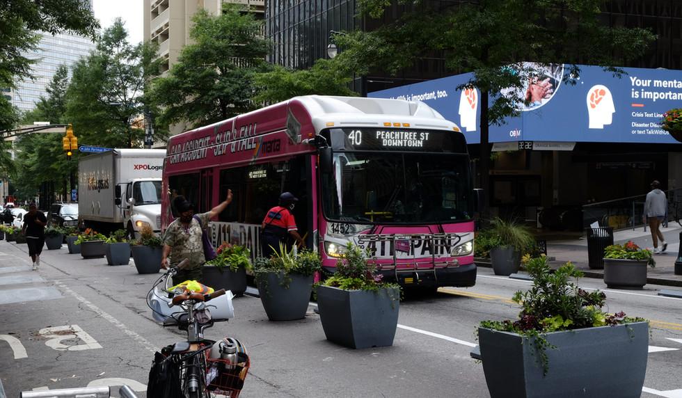MARTA passengers boarding the bus