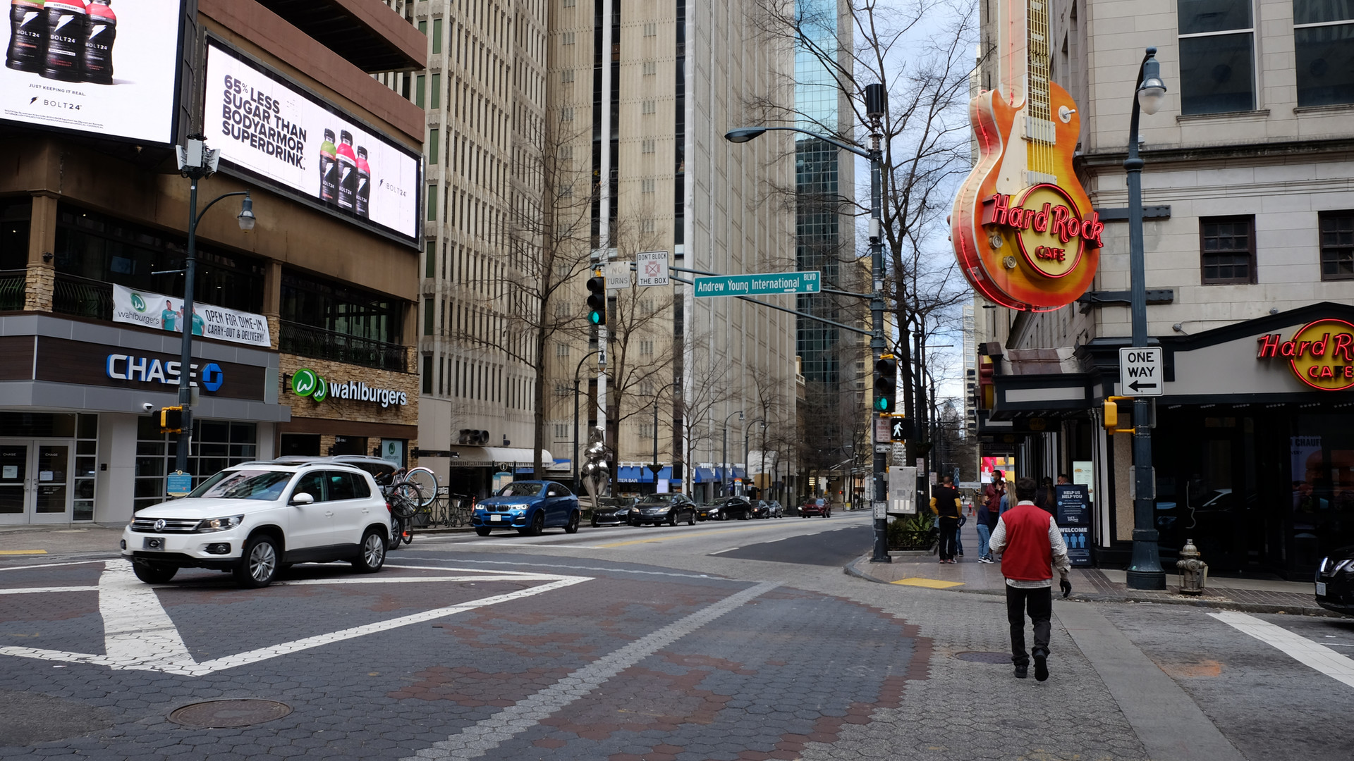 Peachtree Street at Andrew Young International Boulevard