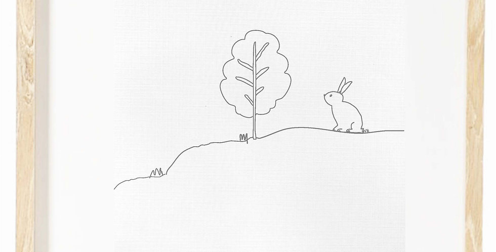 Bunny on a hill