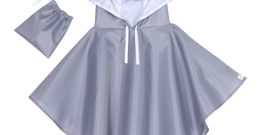 Raincoat - Poncho Bunny Grey