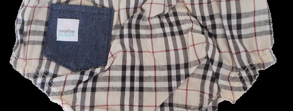 Burberry check - diaper cover