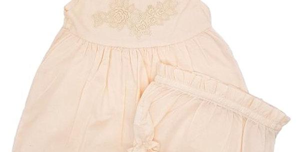 Shirt & Bloomer set - nude pink