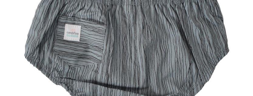 Teal stripe diaper cover