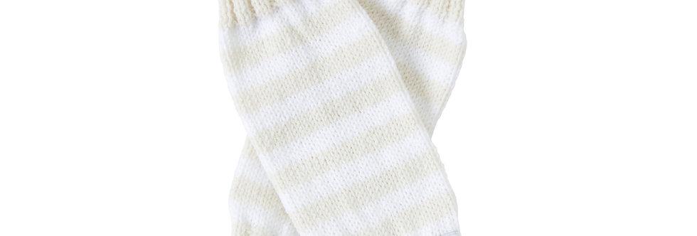 Legwarmers - Milk & White stripes (large)