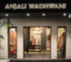 Anjali Wadhwani Couture's flagship store in Pune. Displaying the latest in Women's Wear