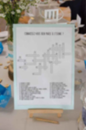 location jeu de table A & Co Events hérault gard mots fléchés personnalisés