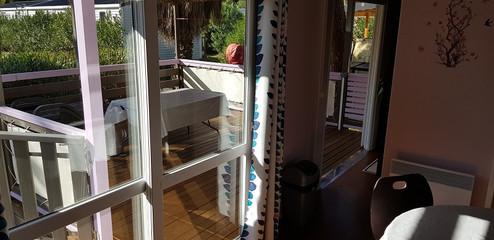 Vue terrasse depuis salon
