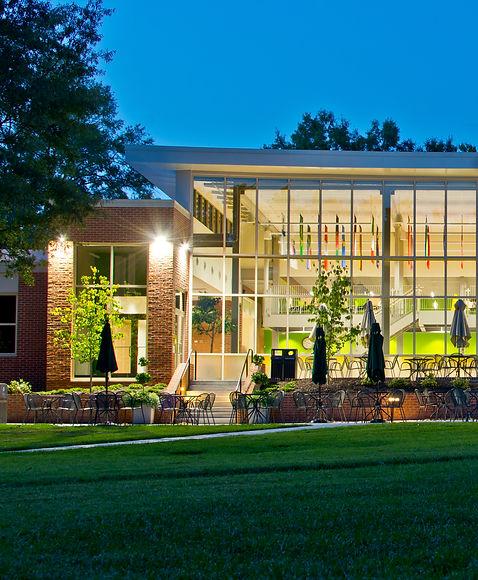 landscape architecture, hardscape, plantings, collegiate school, mcfall hall, site design, renovation, patio, dining, hall, landscape, richmond, virginia, henrico