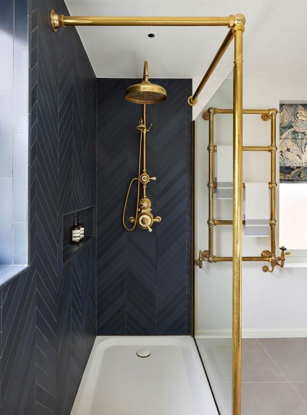 luxury interiors bathroom design by Drummonds - London townhouse