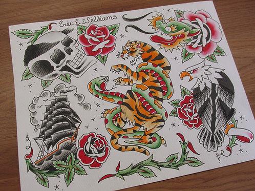 """Tiger snake"" flash page (ORIGINAL)"