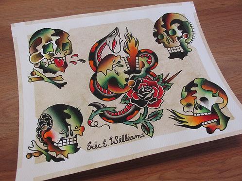 """""""Pez skulls"""" flash page (ORIGINAL)"""