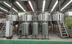 Semi commercial microbrewery with kegging