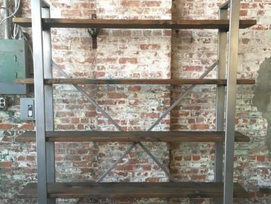 Polished Steel Storage Shelf
