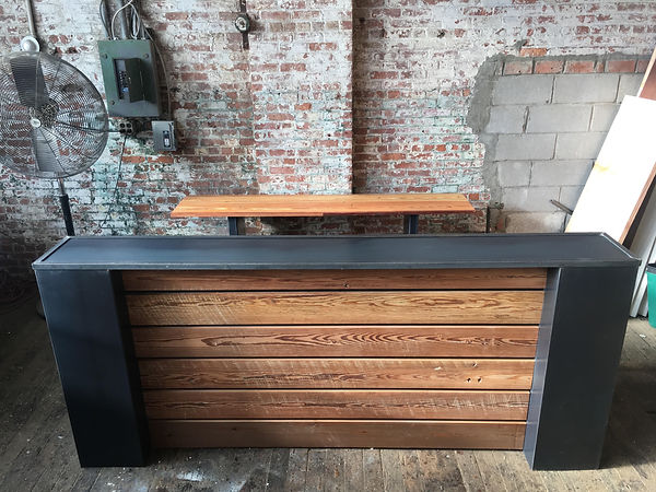 Steel Column Industrial Reception Desk