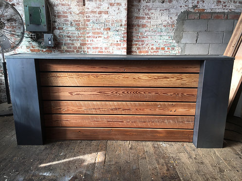 Industrial Steel & Reclaimed Wood Reception Desk
