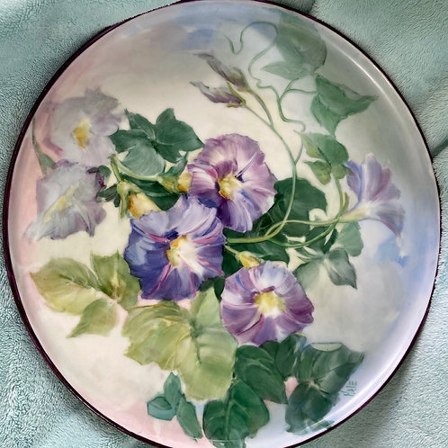 Morning Glories on a Large Platter