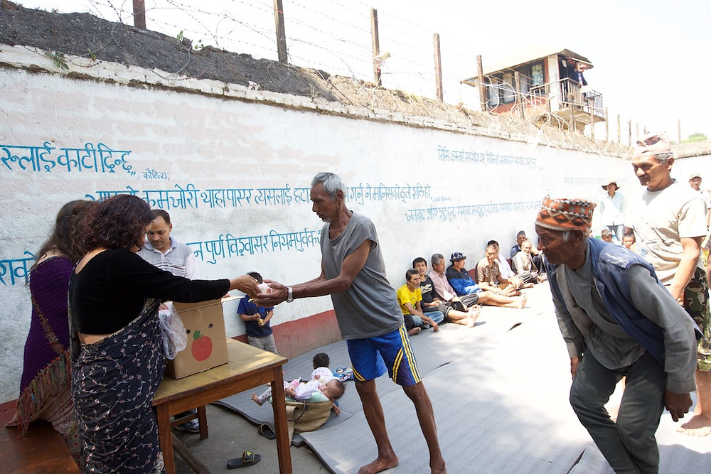 Families receiving aid PA Nepal