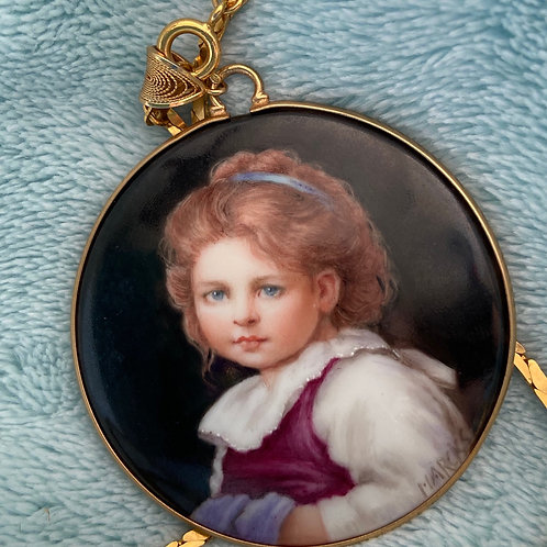 Miniature Portrait of a Young Girl