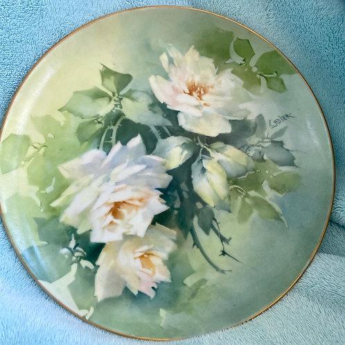 Jean Sadler White Rose Plate