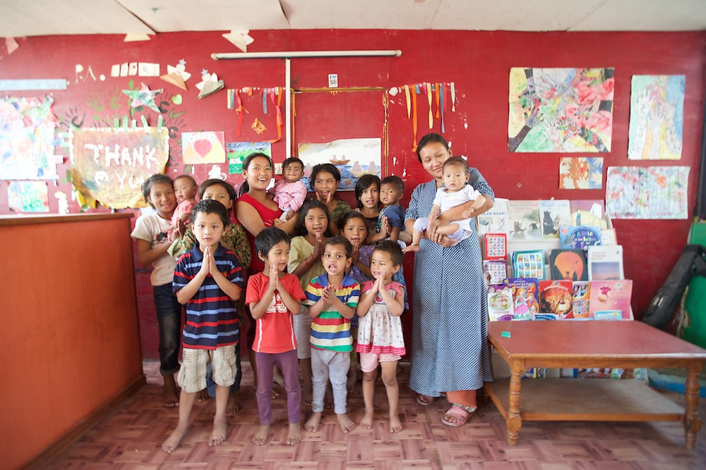 Classroom with children PA Nepal