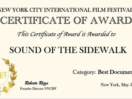 Sounds Of The Sidewalk, A Journey Of Goodbye - New York Film Festival Awards - 2021