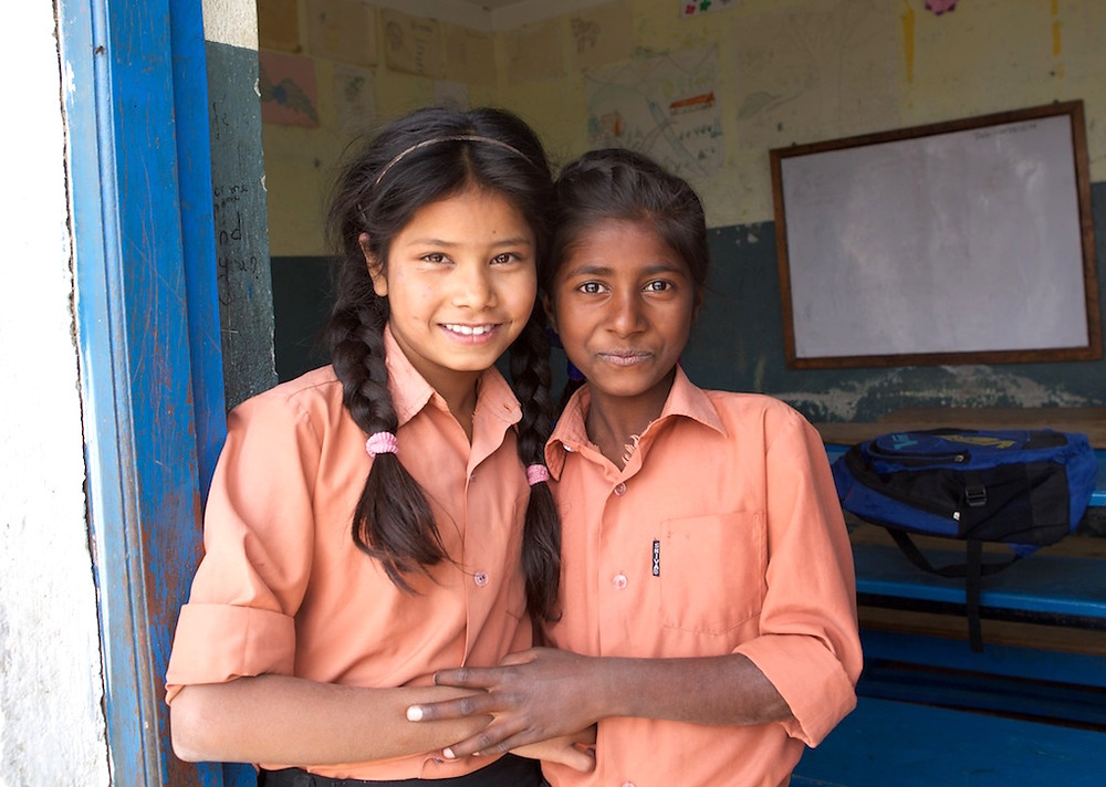 Two students at Junkiri School PA Nepal