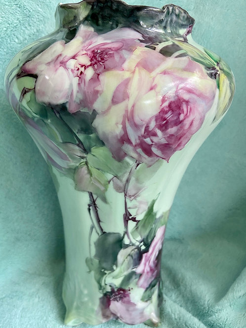 Dramatic Pink Roses on a Vase