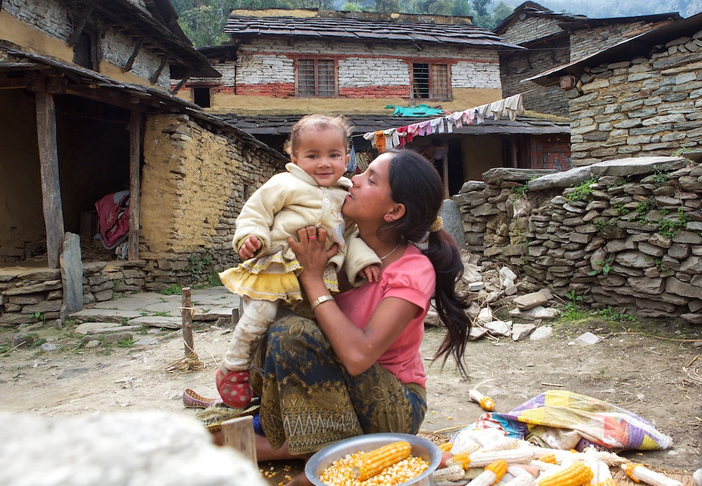 Nepali mother and baby