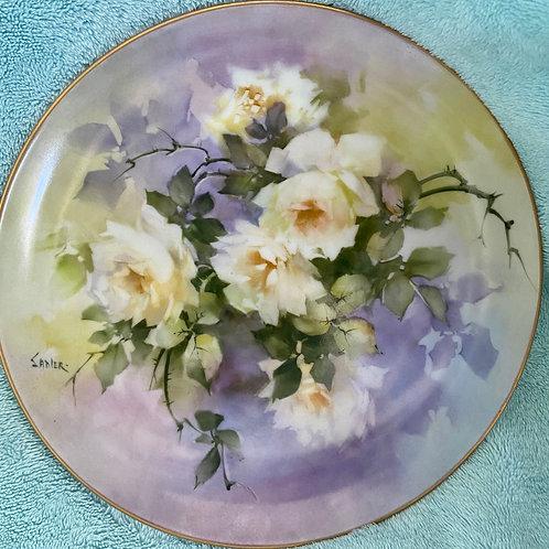 Jean Sadler Yellow Rose Plate