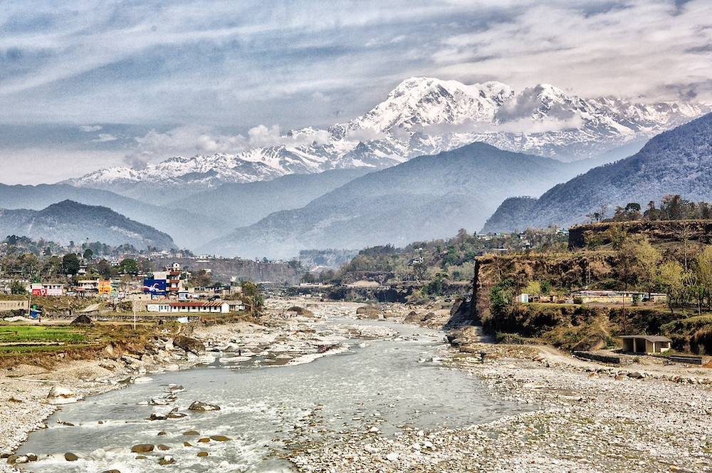 Nepal, with Himalayas in background