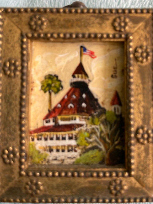 "Signed ""Sue"" Hotel Del Mini Painting"