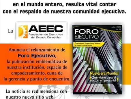 Relanzamiento revista Foro Ejecutivo N° 54. Edición digital.