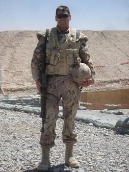 Major Richard Bélanger 2010, OP ATHENA, Kandahar, Afghanistan