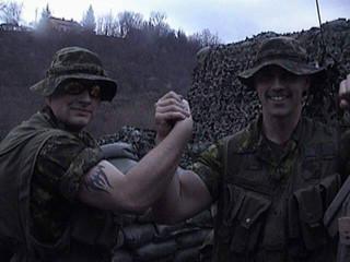Caporal Charles Hudon, Caporal François Laprise 2001, OP PALLADIUM, Bosnie