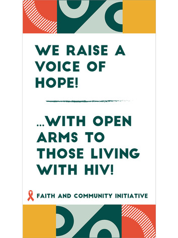 5 - We Raise A Voice of Hope