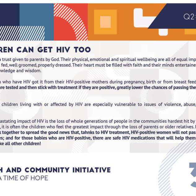Reflection 3 - Children Can Get HIV Too.
