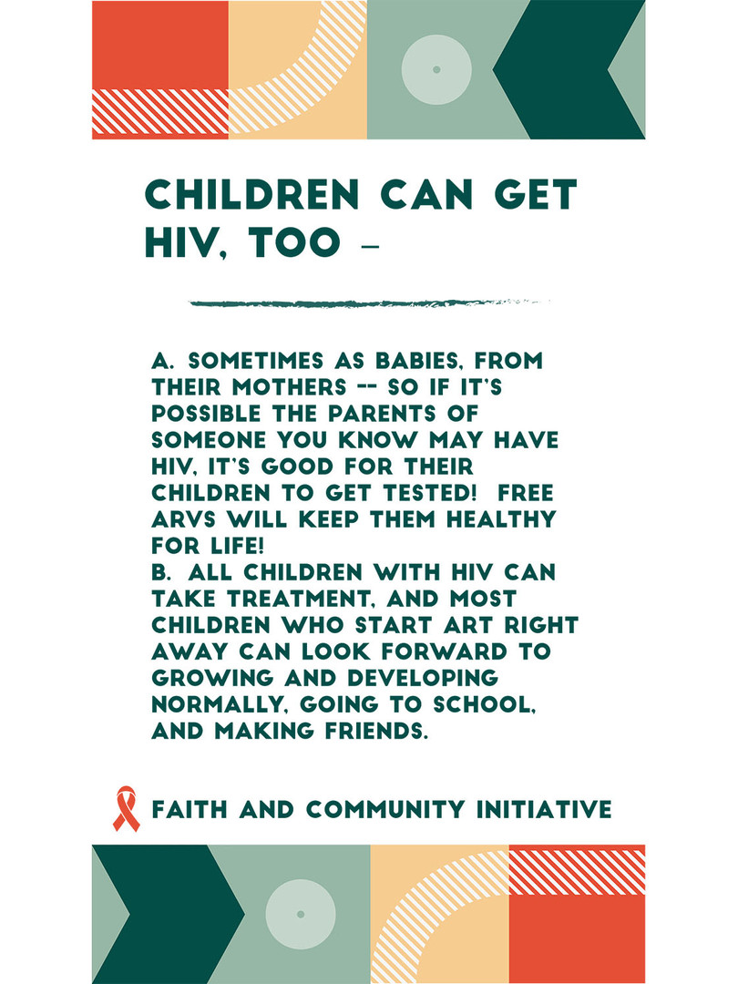 1 - Children Can Have HIV Too