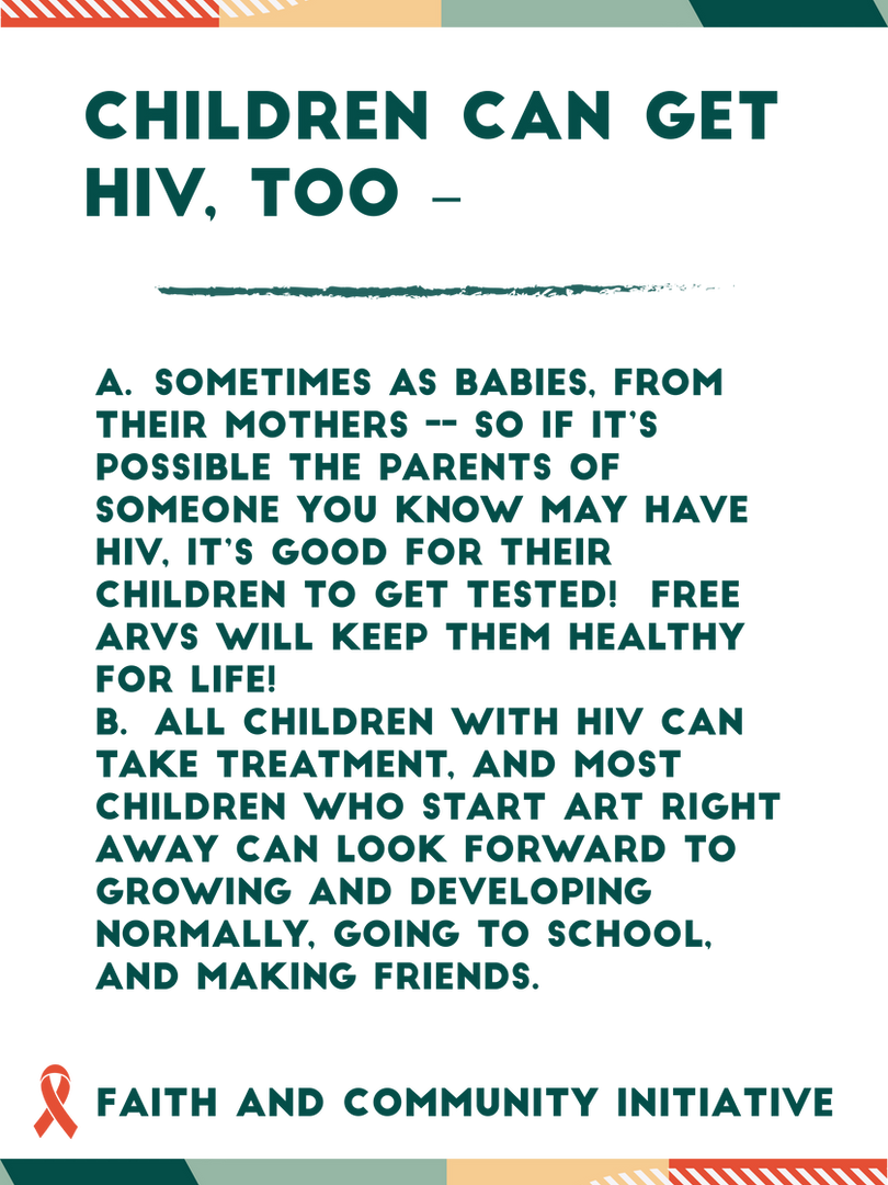 Children can get HIV Too