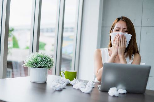 office syndrome allergy with business wo