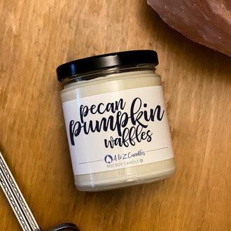 Fall candles Halloween Pumpkin candle fall decor autumn candle PUMPKIN PECAN WAFFLES soy candles candle pumpkin scented candles