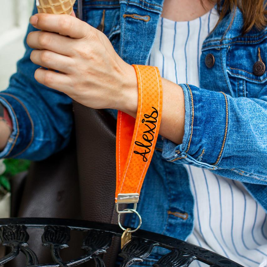 Orange Personalized Keychain