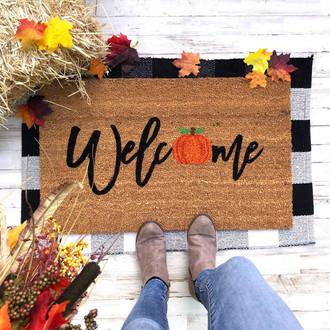 Welcome Fall Mat | Halloween Doormat | Welcome Mat | Door mat | Funny doormat | Halloween | Pumpkin | Fall Decor