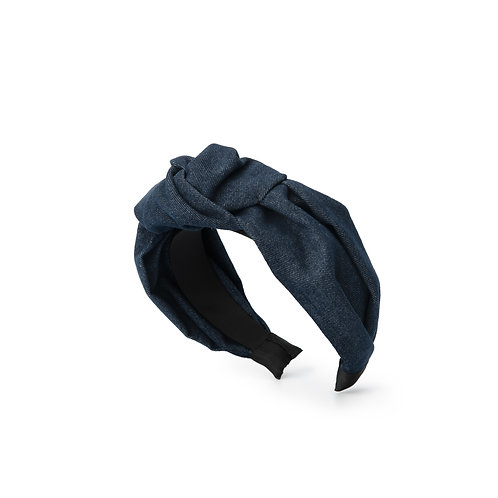 Denim Knot Headband