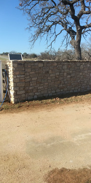 Limestone Entrance Wall After