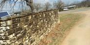 Limestone Entrance Wall Before
