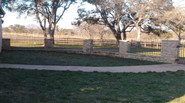 Limestone Fence After