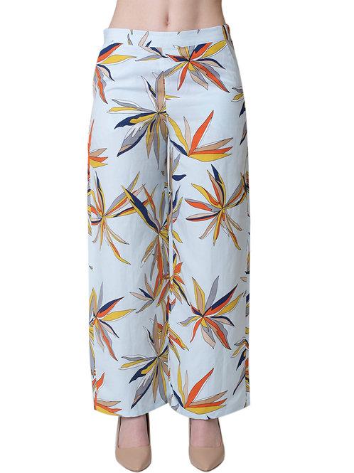 Side-Zip Wide Legs Pants