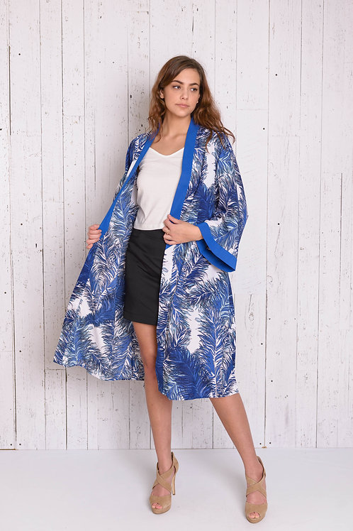 Printed Short Sleeves Kimono-Resort Edtion
